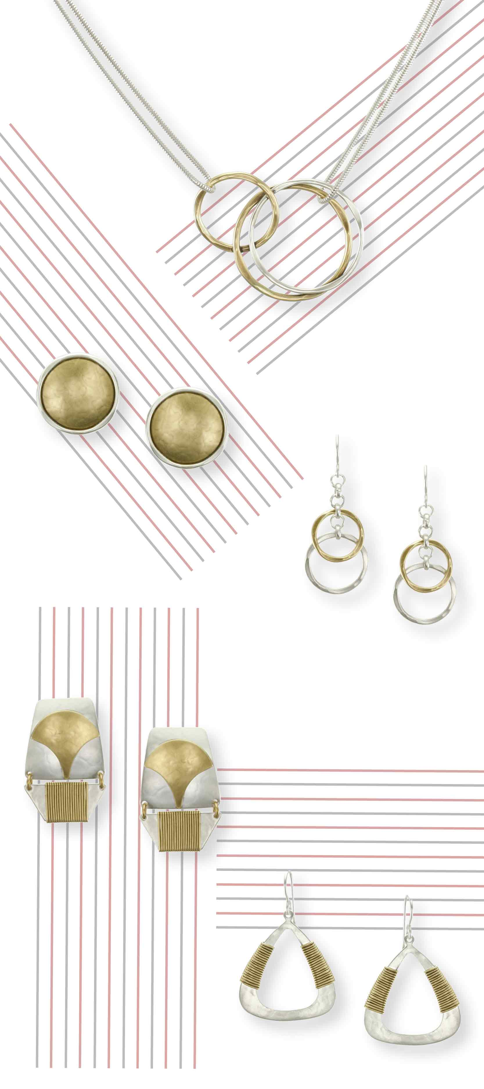 A selection of earrings and necklaces from the Fall 2015 collection